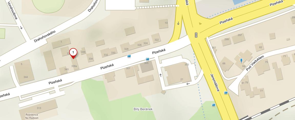Prodejna Freeskier - mapa